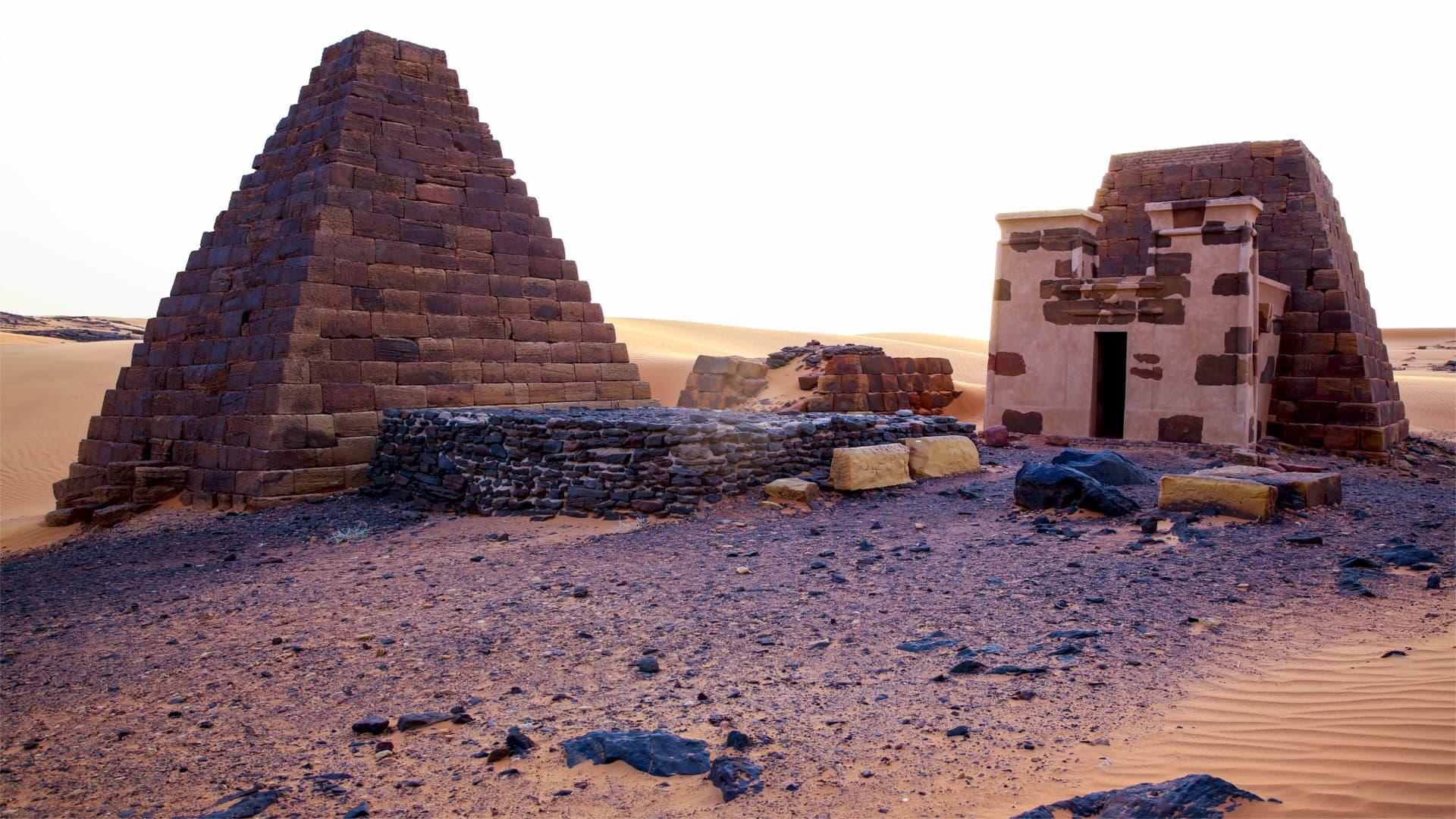 Meroe pyramids Nubian Kush